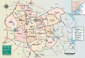 Map of Metro South Region